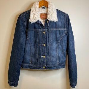 LEVI STRAUSS Sherpa Lined Button Up Denim Jacket